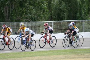 Boys and girls on the track at Wagga Wagga - the girls more than hold their own in the younger years!