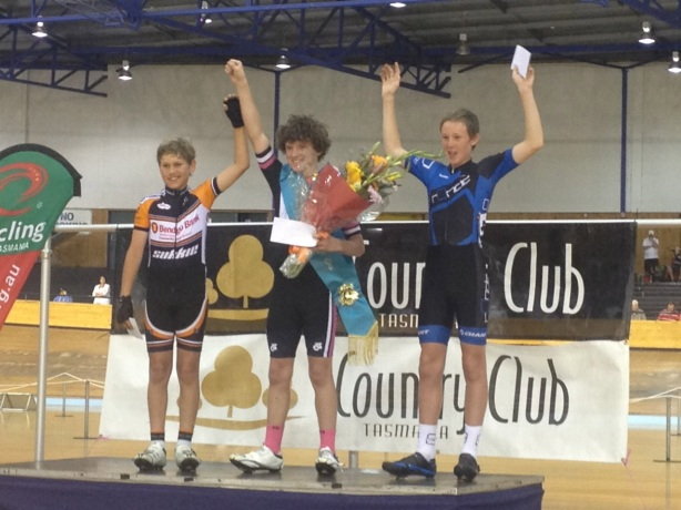 The Junior 2 (or under-15) Launceston Wheelrace Final wasn't held till 10.25pm - well after most 12 and 13 year old's bedtime!