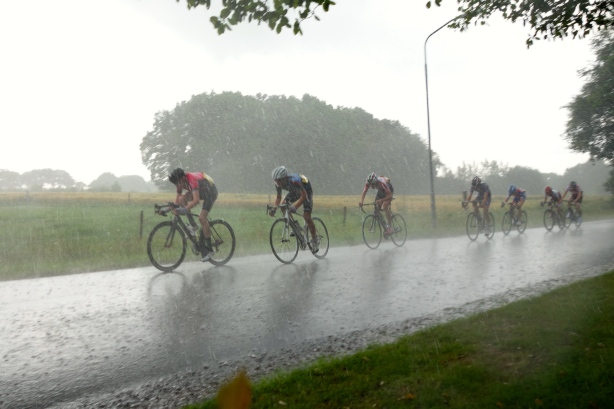 Stage two was a crit that in Australia would have been cancelled due to the rain!