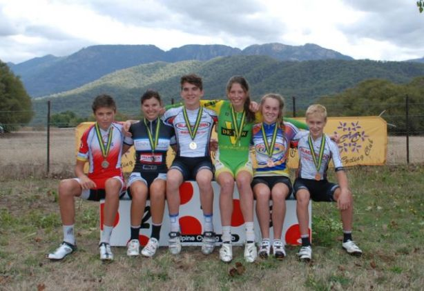 Some of the medallists from the 2013 Alpe D'Buffalo - as it's affectionately known.