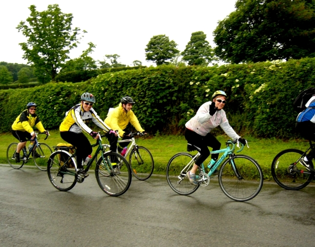 Women tend to wave more than serious male cyclists all dressed to impress.