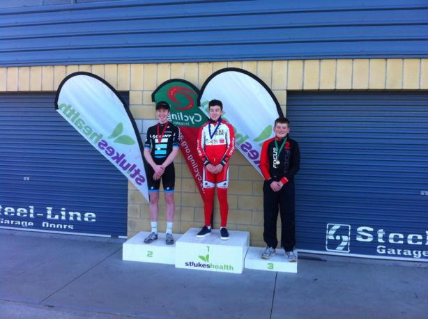 The podium of this year's JM17 Tasmanian ITT Champs…we'll likely see these kids wearing tassie kit in Toowoomba!