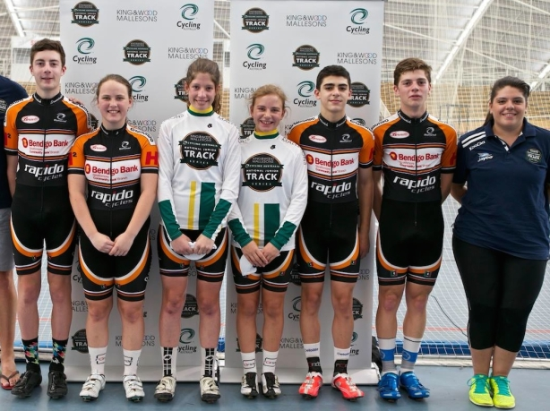 Last year's winning team, Brunswick Cycling Club Orange.  Brunswick has won best stand-alone club for all three years, as well as beating institute and combine teams last year to take the overall title.