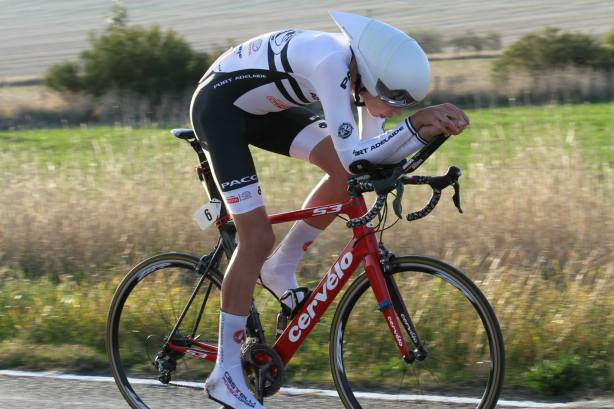 JM17A ITT winner SA's Liam Nolan averaged over 42kmph on the rolling out-and-back course. Photo Credit: Junior SA Cycling Pics