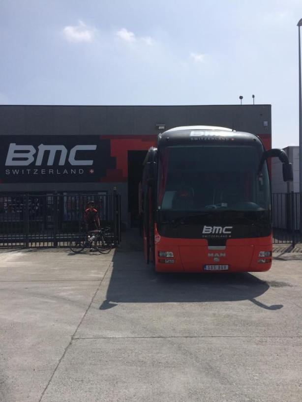 I wonder how many buses BMC has… there must be at least one at the Tour… here's another… no wonder Richie is going there!