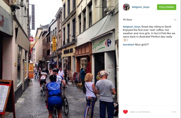 Insta suggests there were other 'attraction' that the boys appreciated… Gent is a university town after all!