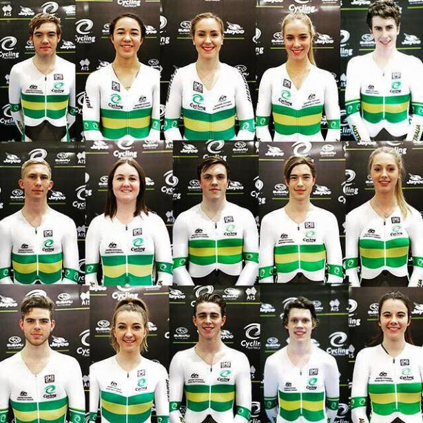 It must feel pretty special to pull on the green and gold skinsuit… good luck to the team representing Australia over in Astana, Kazakstan at the Junior World Track Championships.